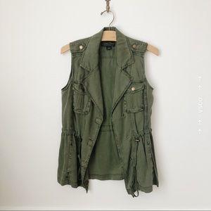 Lucky Brand Olive Green Utility Vest